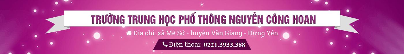 THPT Nguyễn Công Hoan