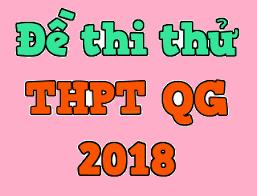 Lịch thi thử THPT quốc gia năm 2018